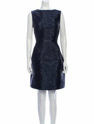Oscar de la Renta 2017 Knee-Length Dress Blue
