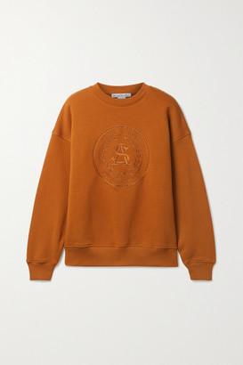 Acne Studios Net Sustain Embroidered Organic Cotton-jersey Sweatshirt - Camel