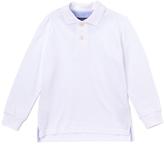 E-Land Kids White Two-Button Polo - Boys