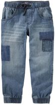 Osh Kosh Toddler Boy Faux-Patched Denim Jogger Pants
