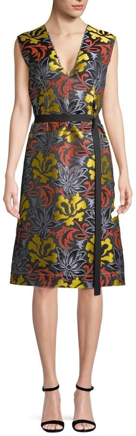 Derek Lam Women's Belted A-line Dress