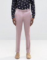 Asos Slim Suit Trousers In Dusty Pink