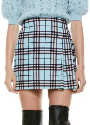 Alice + Olivia Semira Pleated Mini Skirt