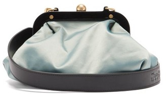 See by Chloe Tilly Shoulder-strap Satin Pouch - Light Blue
