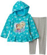 """Disney Disney's Frozen Elsa & Anna """"Sisters Forever"""" Snowflake Fleece Pullover & Leggings Set"""