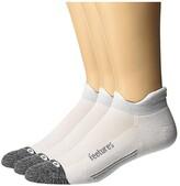 Feetures Elite Light Cushion No Show Tab 3-Pair Pack (White) No Show Socks Shoes