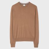 Paul Smith Men's Camel Merino-Silk Blend Sweater