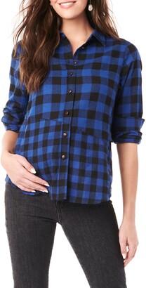 Loyal Hana Blake Flannel Maternity/Nursing Shirt