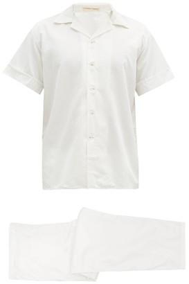 Cleverly Laundry - Cotton-sateen Short-sleeved Pyjamas - White