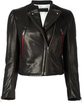 Haider Ackermann zipped biker jacket - women - Silk/Cotton/Leather/Rayon - 36