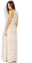 LOVE21 LOVE 21 Floral Cutout Maxi Dress