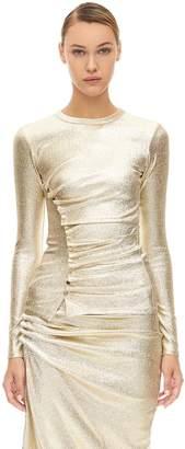 Paco Rabanne Asymmetric Stretch Jersey Lurex Top