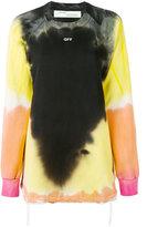 Off-White back ruffle crewneck sweatshirt - women - Cotton - S