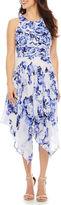 Robbie Bee Sleeveless Fit & Flare Dress-Petites