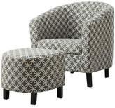 Monarch Circular Print Accent Chair and Ottoman