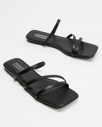Therapy Women's Black Strappy sandals - Garza - Size 8 at The Iconic