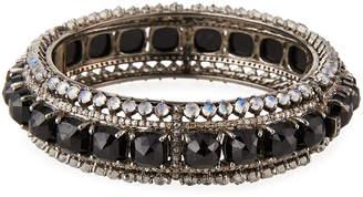 Bavna Rainbow Moonstone & Black Spinel Bracelet