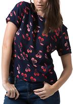 Sugarhill Boutique Lola Cherry Batik Top, Navy/Red