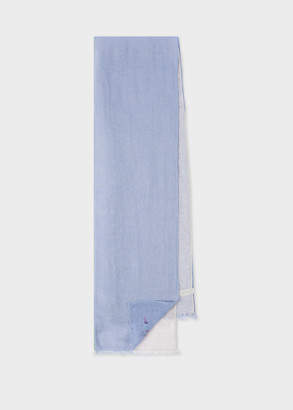 Paul Smith Men's Mauve Split Colour Linen Scarf