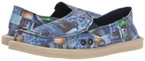 Sanuk Donna Blue Love Women's Slip on Shoes