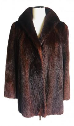 Pierre Cardin Brown Mink Coats
