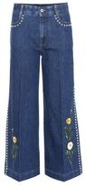 Stella McCartney Nashville Embellished Denim Culottes