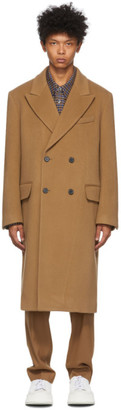 Solid Homme Beige Double-Breasted Coat