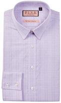 Thomas Pink Super Jones Slim Fit Glen Plaid Dress Shirt