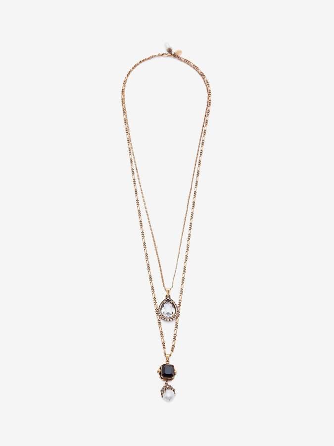 Alexander McQueen Jeweled Duo Pendant