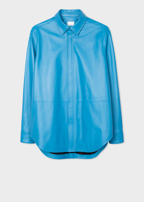 Men's Turquoise Leather Shirt