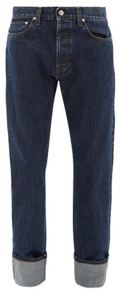 Helmut Lang Masc High-rise Ankle-roll Jeans - Mens - Indigo