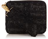 Simone Rocha Twist-clasp tweed clutch