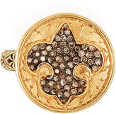 Loree Rodkin 18k Diamond Feur-de-Lis Ring, Size 8