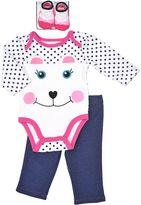 Vitamins Baby Baby Girl Animal Polka-Dot Bodysuit & Leggings Set