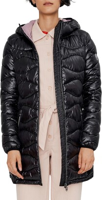 Noize Wavy Quilted Packable Hooded Puffer Coat