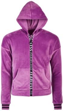 Ideology Big Girls Velour Zip Hoodie, Created for Macy's