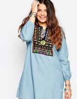Alice & You Embroidered Denim Dress