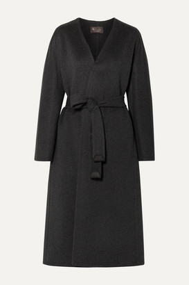 Loro Piana Gil Belted Cashmere Coat - Dark gray