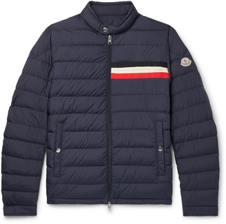 Moncler Striped Quilted Shell Down Jacket