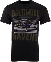 Junk Food Clothing Men's Baltimore Ravens Block Shutter T-Shirt