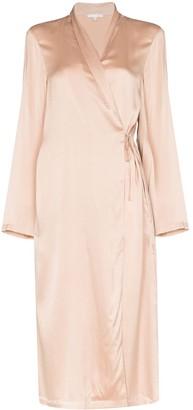 Skin Thea silk dressing gown