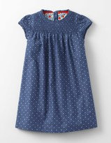 Boden Pintuck Ruffle Dress