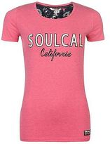 Soul Cal SoulCal Womens Fashion Logo T Shirt Tee Top Short Sleeve Round Neck Stretchy
