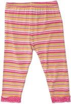 Kickee Pants Print Lace Trimmed Legging (Baby)-Island Stripe-Preemie