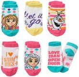 Disney Disney's Frozen Anna, Elsa & Olaf Toddler Girl 6-pk. Low-Cut Socks