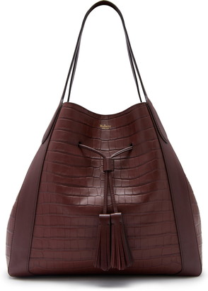 Mulberry Millie Matte Croc Embossed Leather Tote