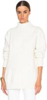 Nina Ricci Bi Color Patchwork Crewneck Sweater