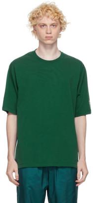 Kenzo Green Striped Mesh Sport Logo T-Shirt
