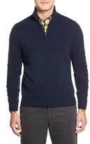 John W. Nordstrom Men's Quarter Zip Cashmere Sweater
