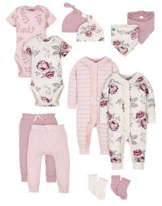 Gerber Modern Moments by Baby Girl Baby Shower Layette Gift Set, 12-Piece